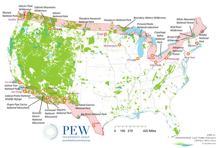 Cawjpg - Map of national parks in united states