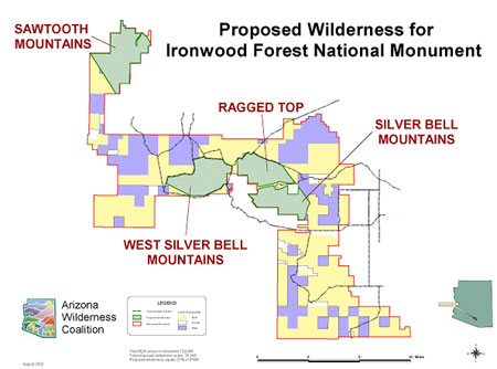 Ironwood Forest proposal map