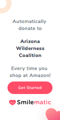 Automatically donate to Arizona Wilderness Coalition every time you shop at Amazon